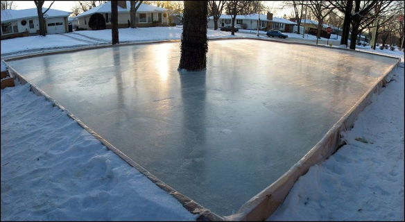 Backyard Rink Liner : 30X40 BACK YARD ICE RINK  WHITE LINER