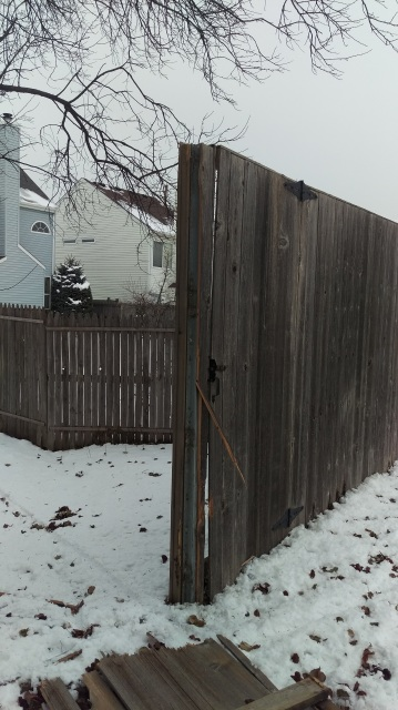 Two 8 Foot Tall X 8 Wide Fence Panel Repair