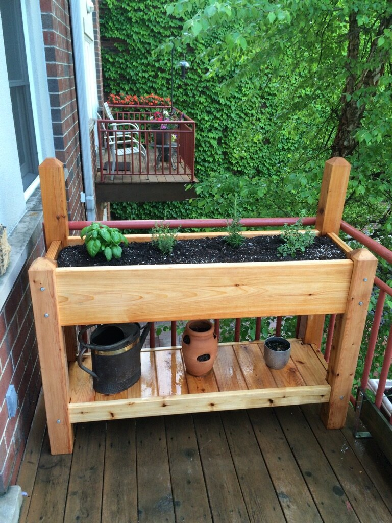 Raised HERB GARDEN CEDAR Filled And Delivered