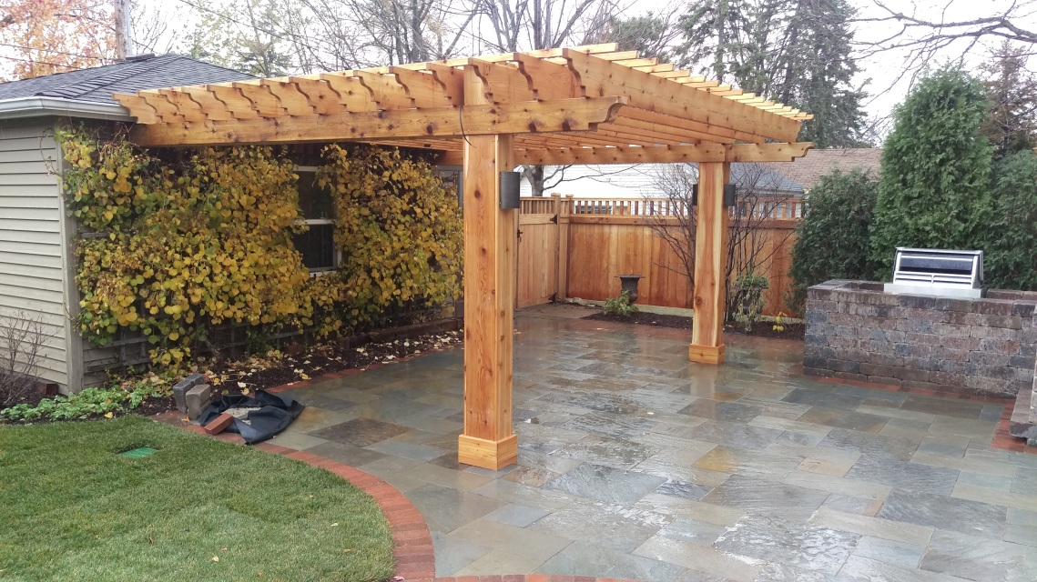 9x18 5 Foot 4 Post Pergola With 12 Foot Rafters
