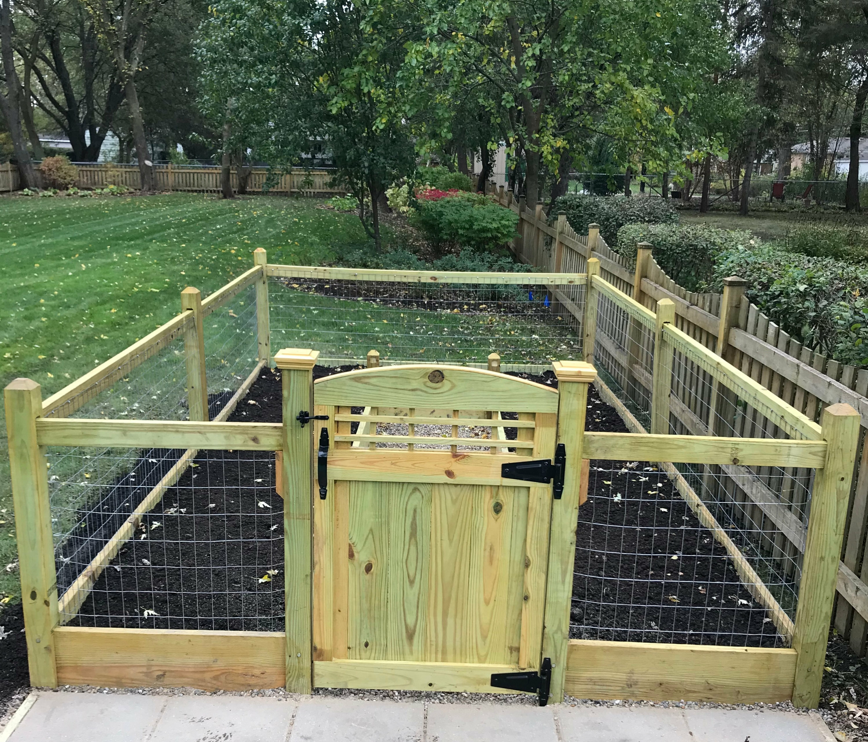 20 Raised Bed Garden Designs And Beautiful Backyard: 14x20x4 Foot Tall Gated Raised Garden Bed Treated Pine